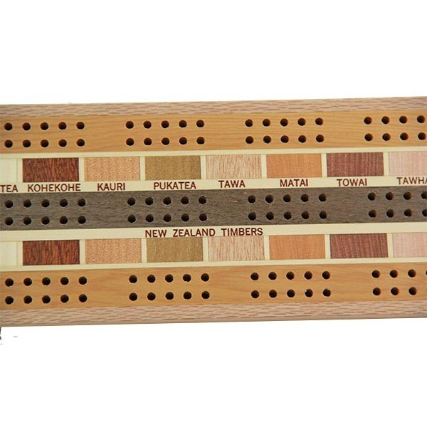 Cribbage Board 3 Player Timber Arts New Zealand