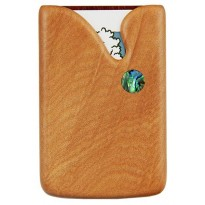 Pocket Business Card Holder - Paua Drop / Kauri