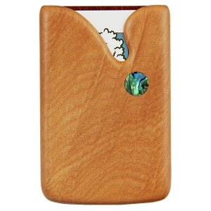 Pocket Business Card Holder - Paua Drop / Kauri