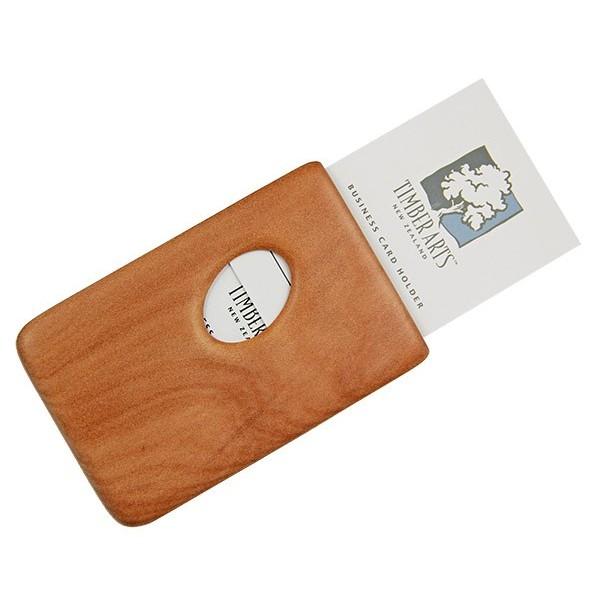 Pocket Business Card Holder Kauri Thumbprint Timber