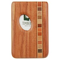 Pocket Business Card Holder -Timber Arts -  Rimu / Thumbprint