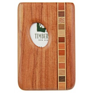 Pocket Business Card Holder -Timber Arts -  Rimu / Thumbprint