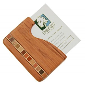 Pocket Business Card Holder Timber Arts Rimu Fish Hook