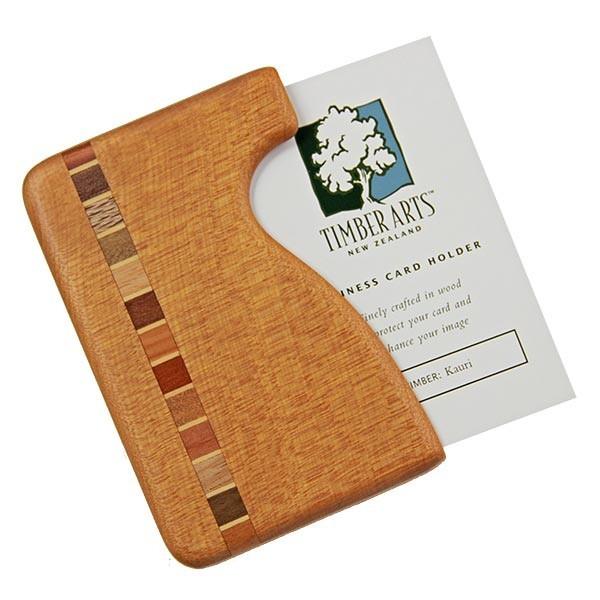 Pocket Business Card Holder Timber Arts Kauri Fish