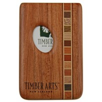 Pocket Business Card Holder - Timber Arts - Thumbprint / Rimu