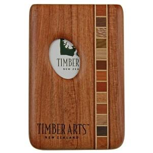 Pocket Business Card Holder - Timber Arts - Thumbprint / Rimu