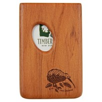 Pocket Business Card Holder - Kiwi - Rimu / Thumbprint