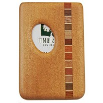Pocket Business Card Holder - Timber Arts - Kauri / Thumbprint