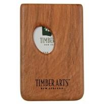 Pocket Business Card Holder -Thumbprint / Rimu