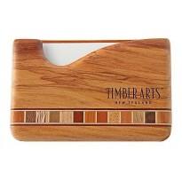 Pocket Business Card Holder - Timber Arts - Fish Hook / Rimu