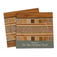 Set of Two Coasters - Timber Arts / Rimu Borders