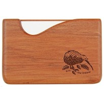 Pocket Business Card Holder - Kiwi - Rimu / Fish Hook